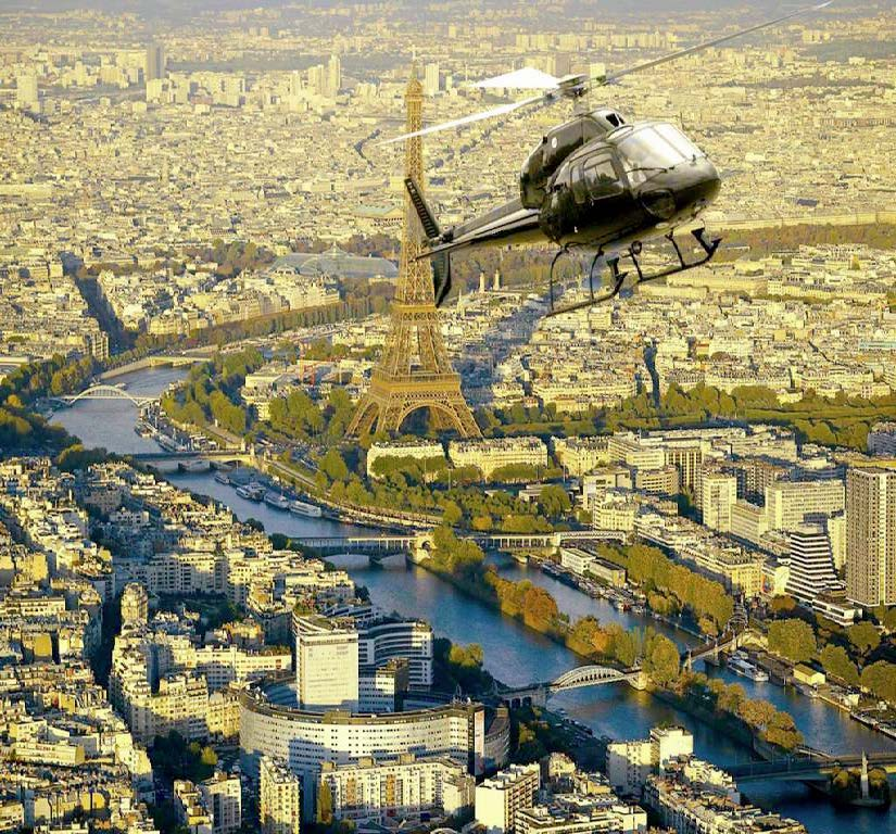 Idée activité St valentin - vol hélicoptère