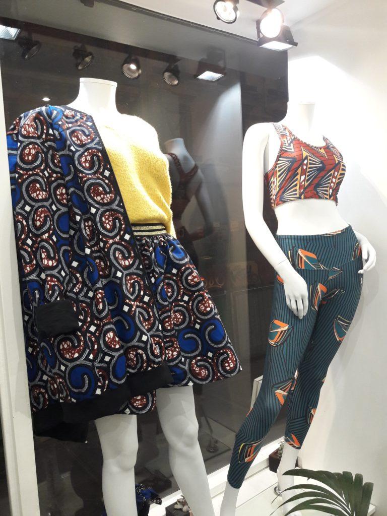 Vitrine de présentation de la boutique Akwaba