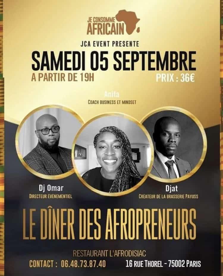 Les rdv afro-caribéens de la rentrée - Le dîner des afropreneurs