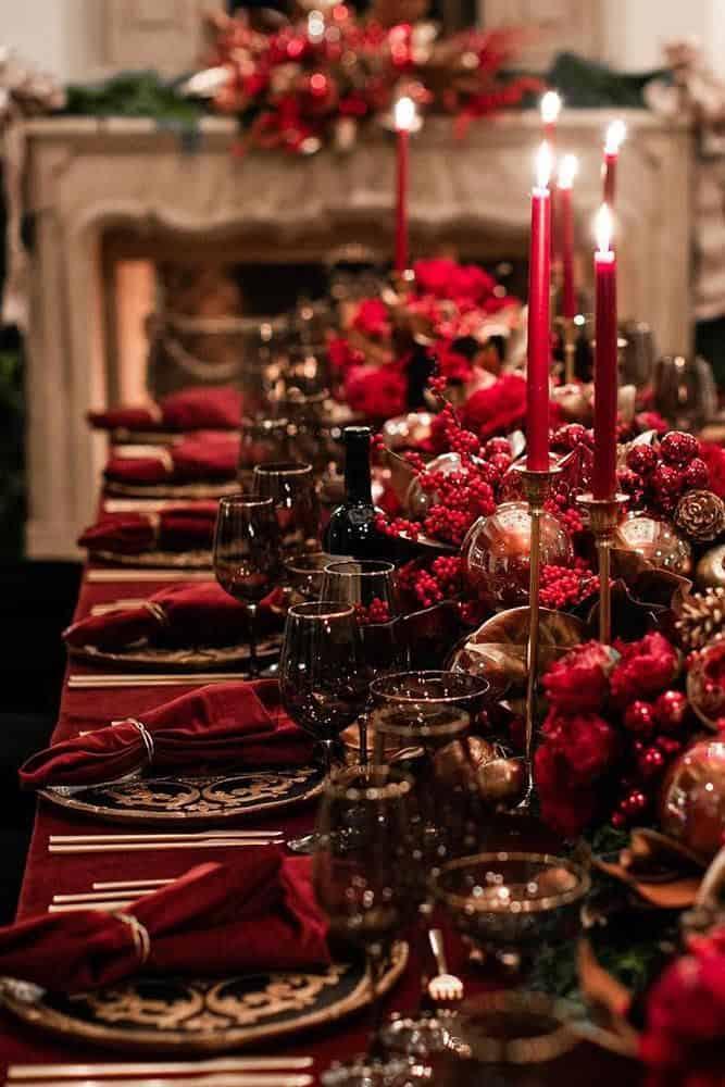 10 commandements de Noël - Décoration de table de Noël